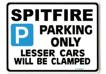 SPITFIRE Large Metal Sign for TRIUMPH 1500 manual Gift